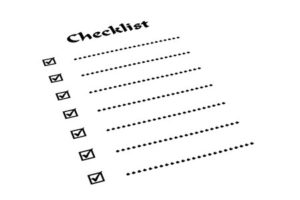 Have a checklist for doctor's appointments