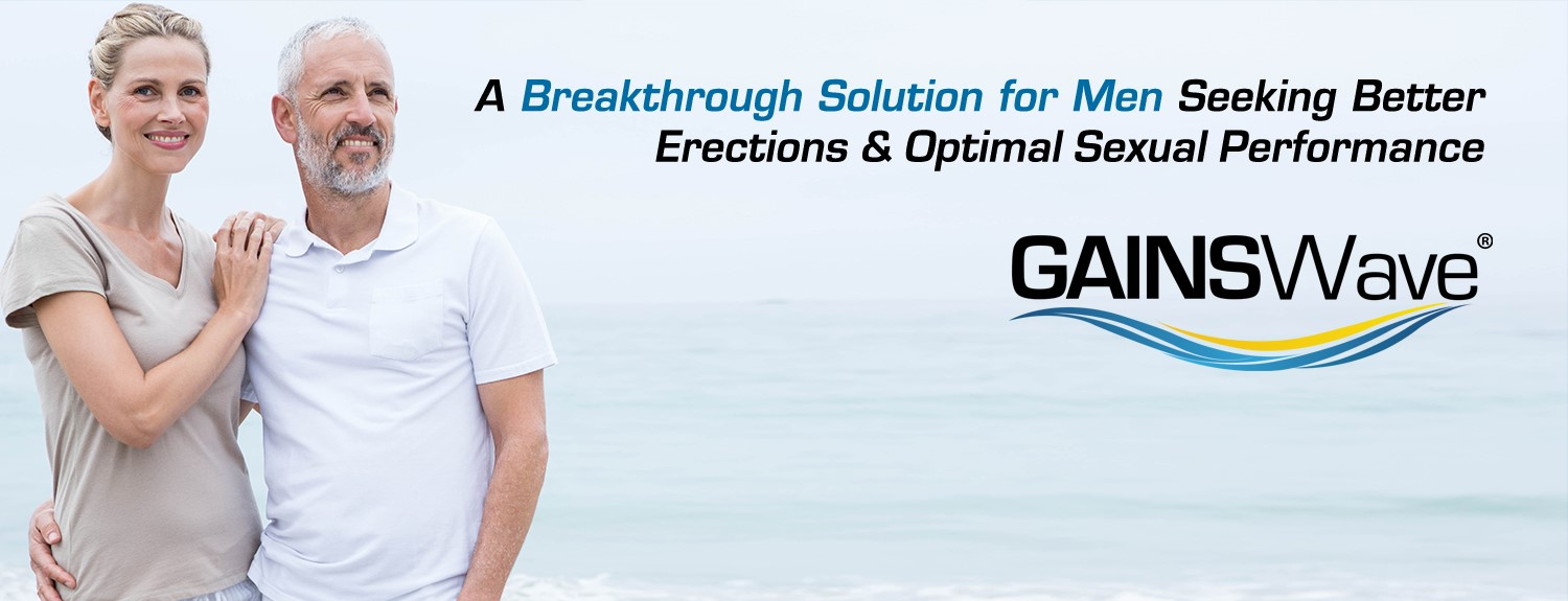 A breakthrough solution for men seeking better erections and optimal sexual performance - GAINSWave